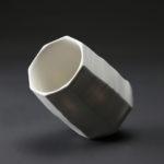 Bol haut en céramique, porcelaine émaillée blanc