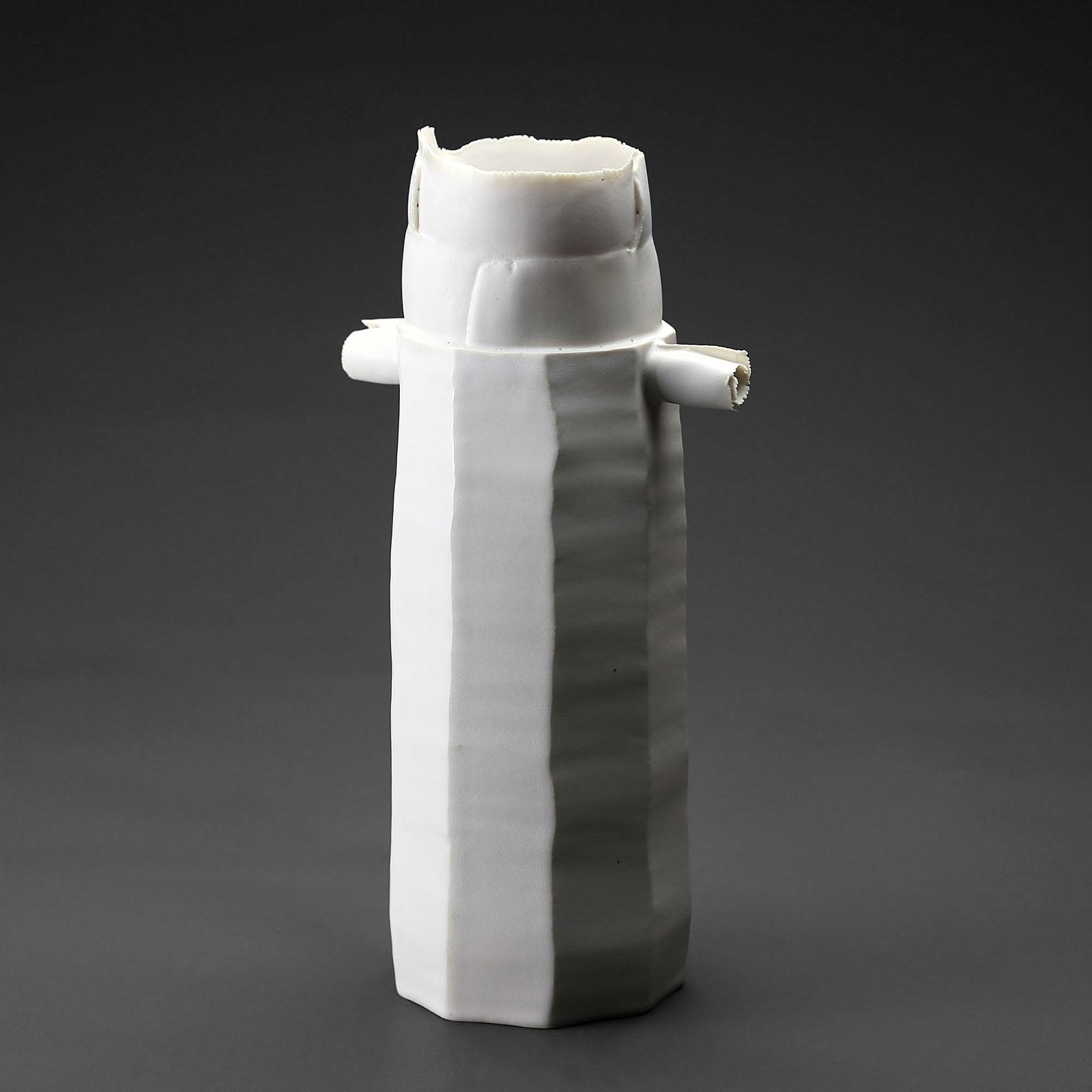 Vase Të 916-1 céramique, porcelaine émaillée blanc