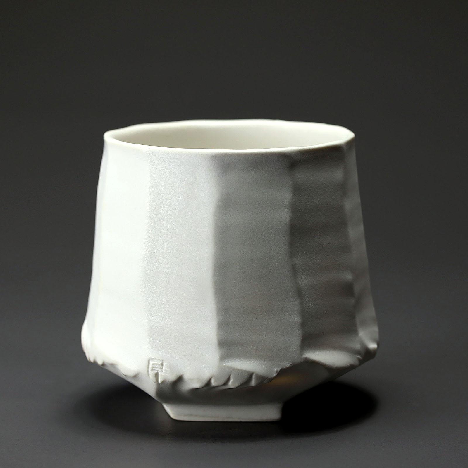 bol 908  en céramique, porcelaine émaillée blanc