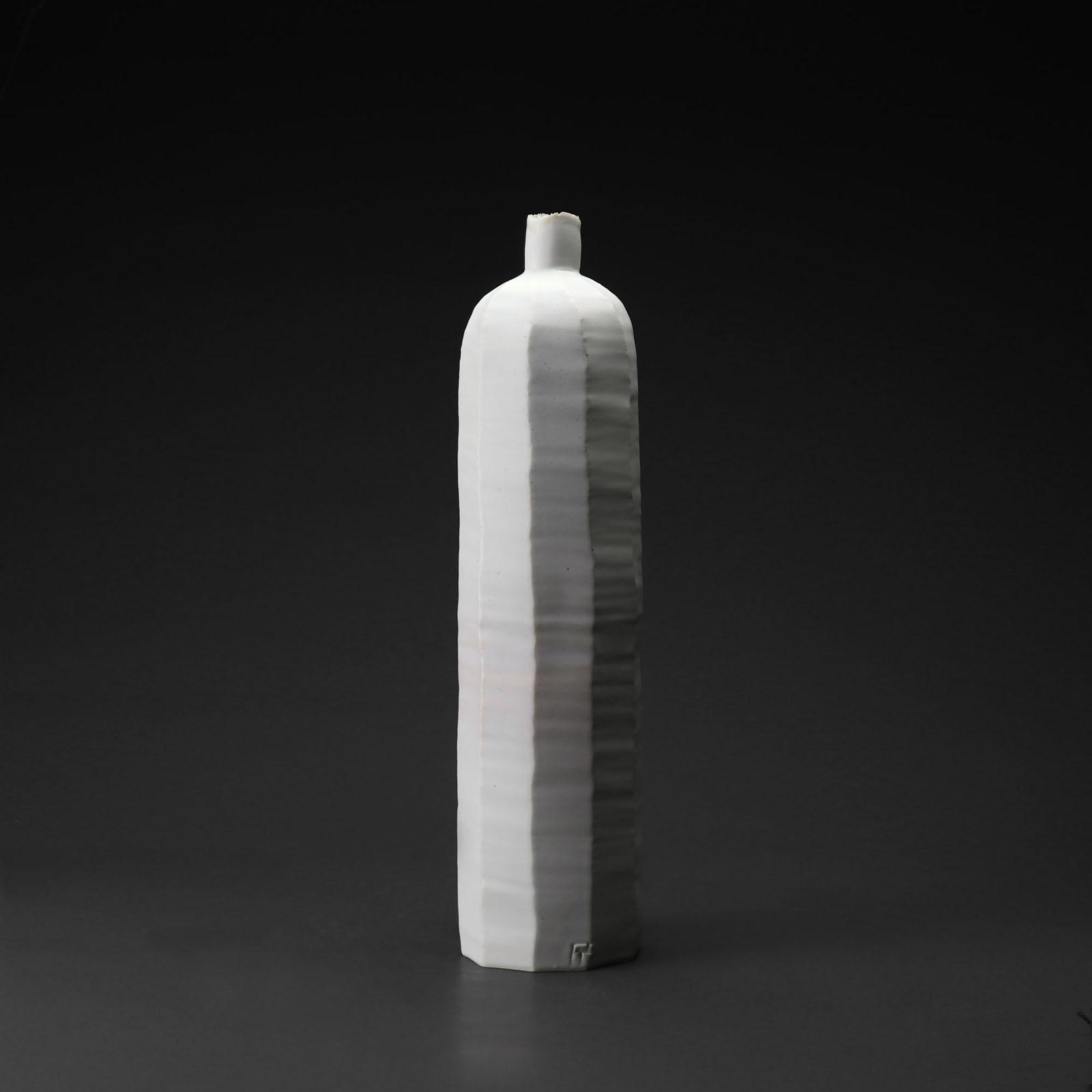 Bouteille gm 923 céramique, porcelaine émaillée blanc