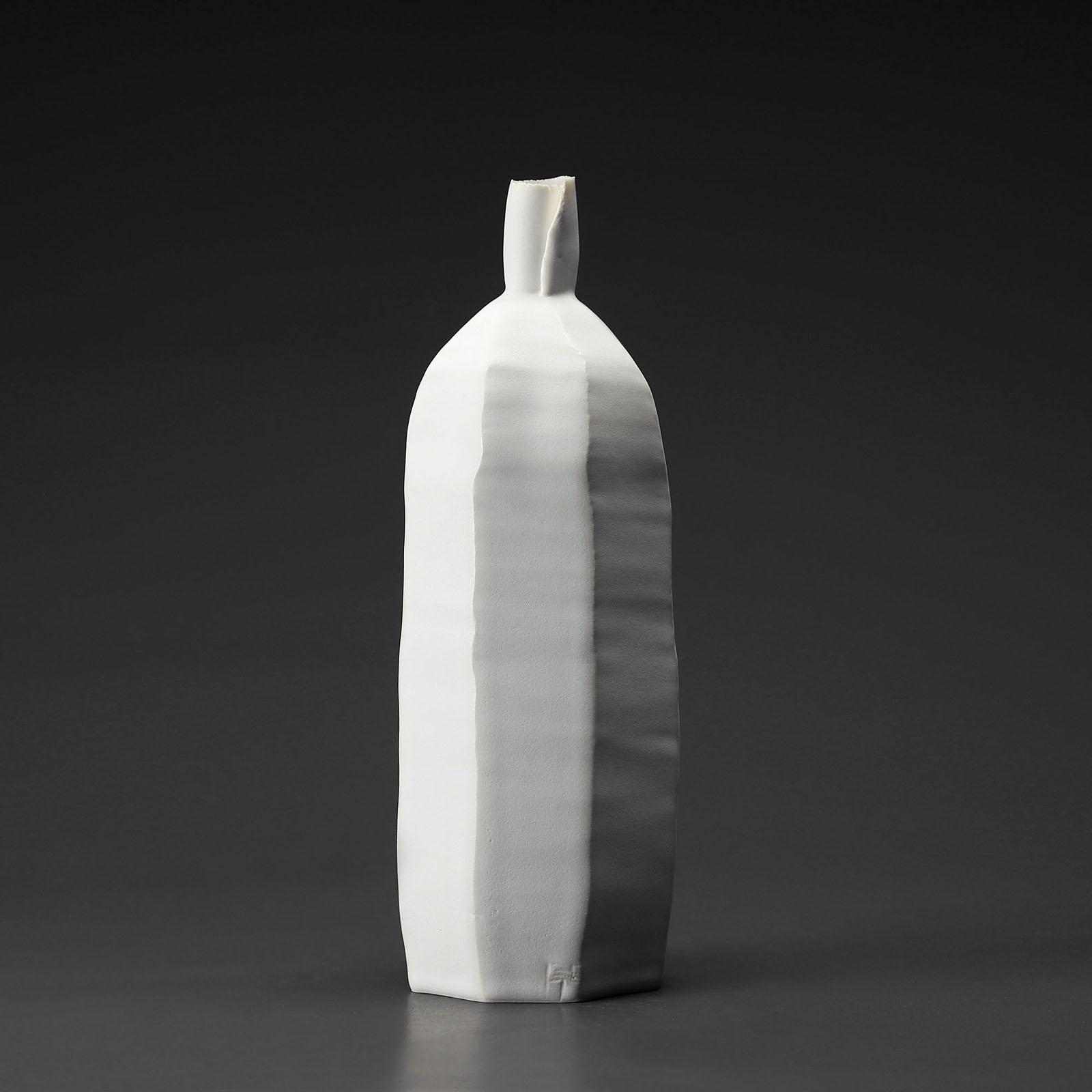 Bouteille mm 928 céramique, porcelaine émaillée blanc
