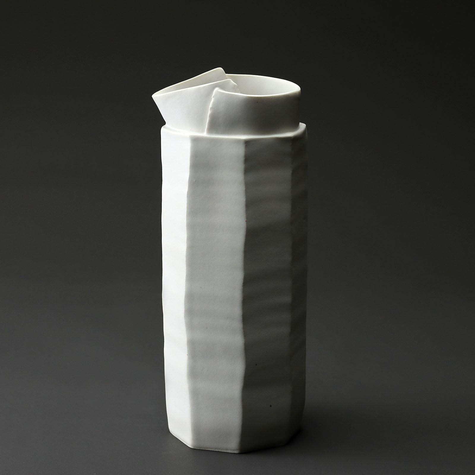broc 973 en céramique, porcelaine émaillée blanc