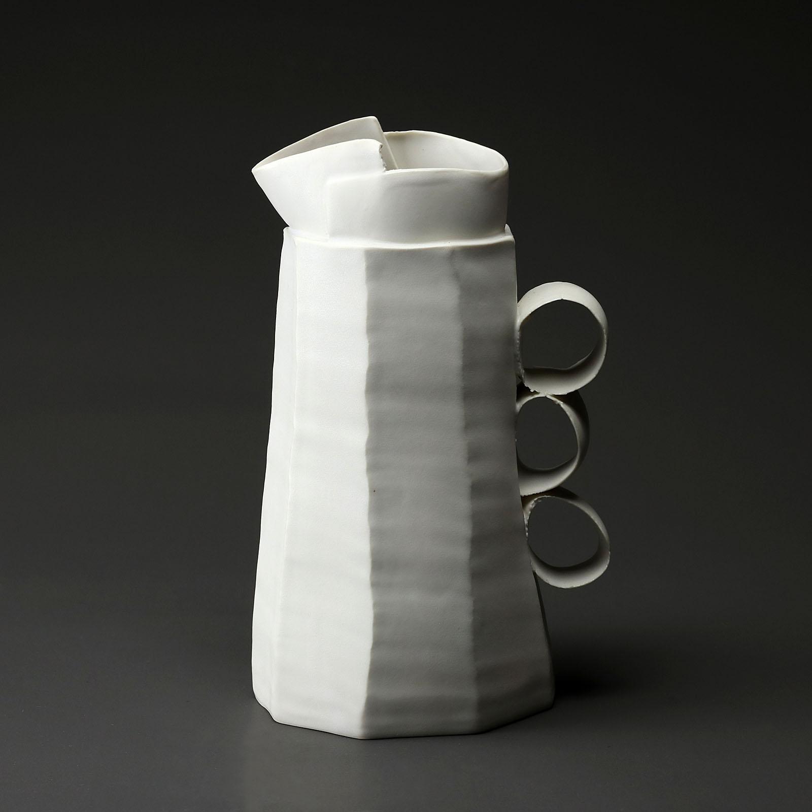 carafe co 965 en céramique, porcelaine émaillée blanc