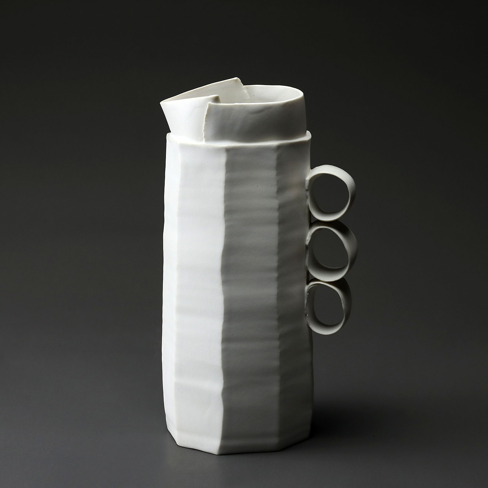 carafe h 969 en céramique, porcelaine émaillée blanc