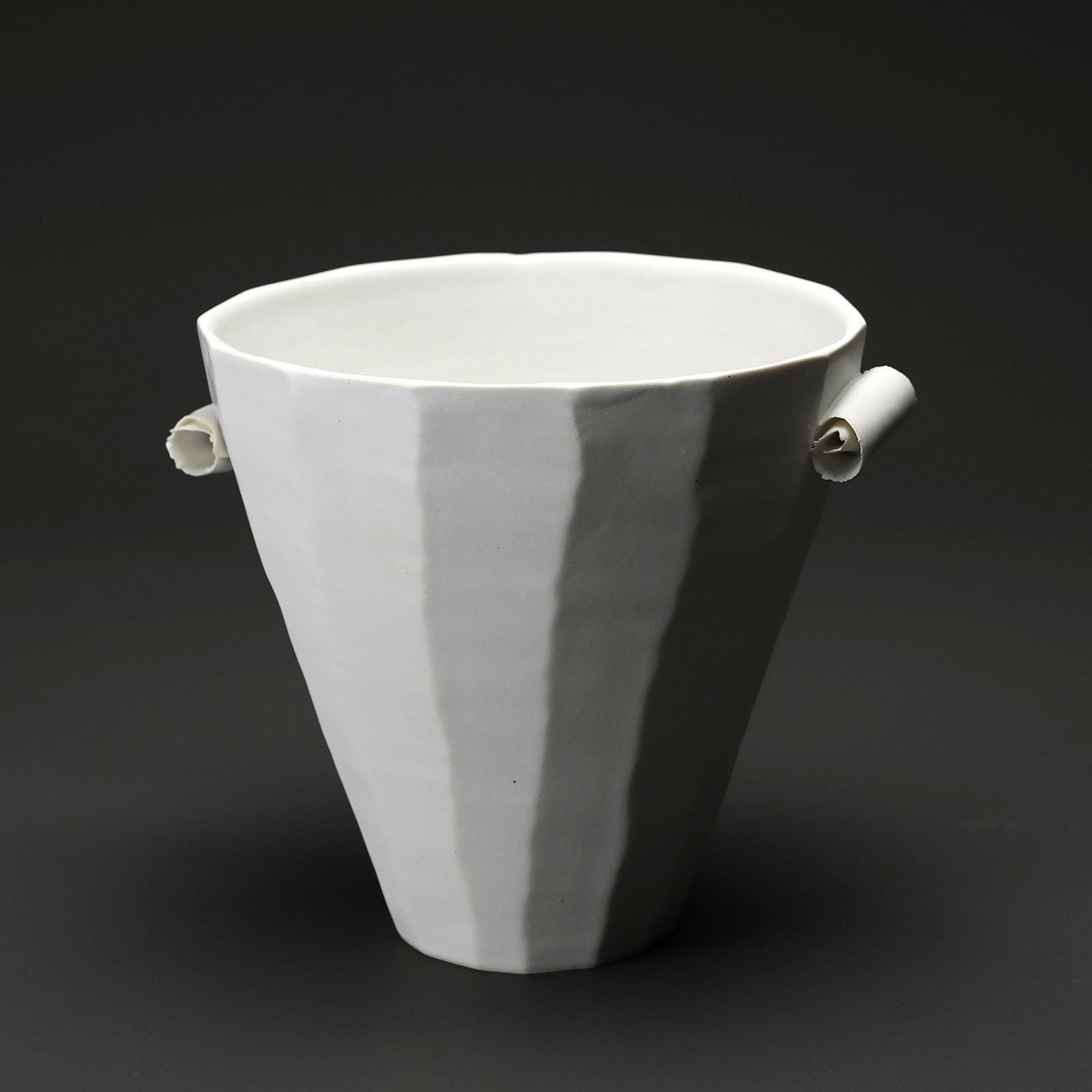 coupe v MM 110 en céramique, porcelaine émaillée blanc