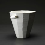 Coupe en céramique, porcelaine émaillée blanc