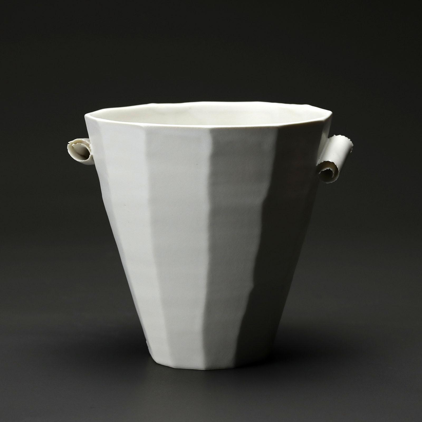 coupe PM 115 en céramique, porcelaine émaillée blanc