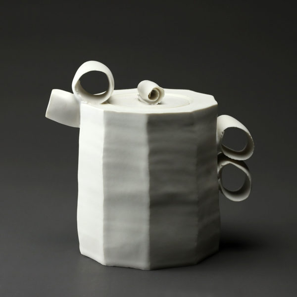 Théière en céramique, porcelaine émaillée blanc