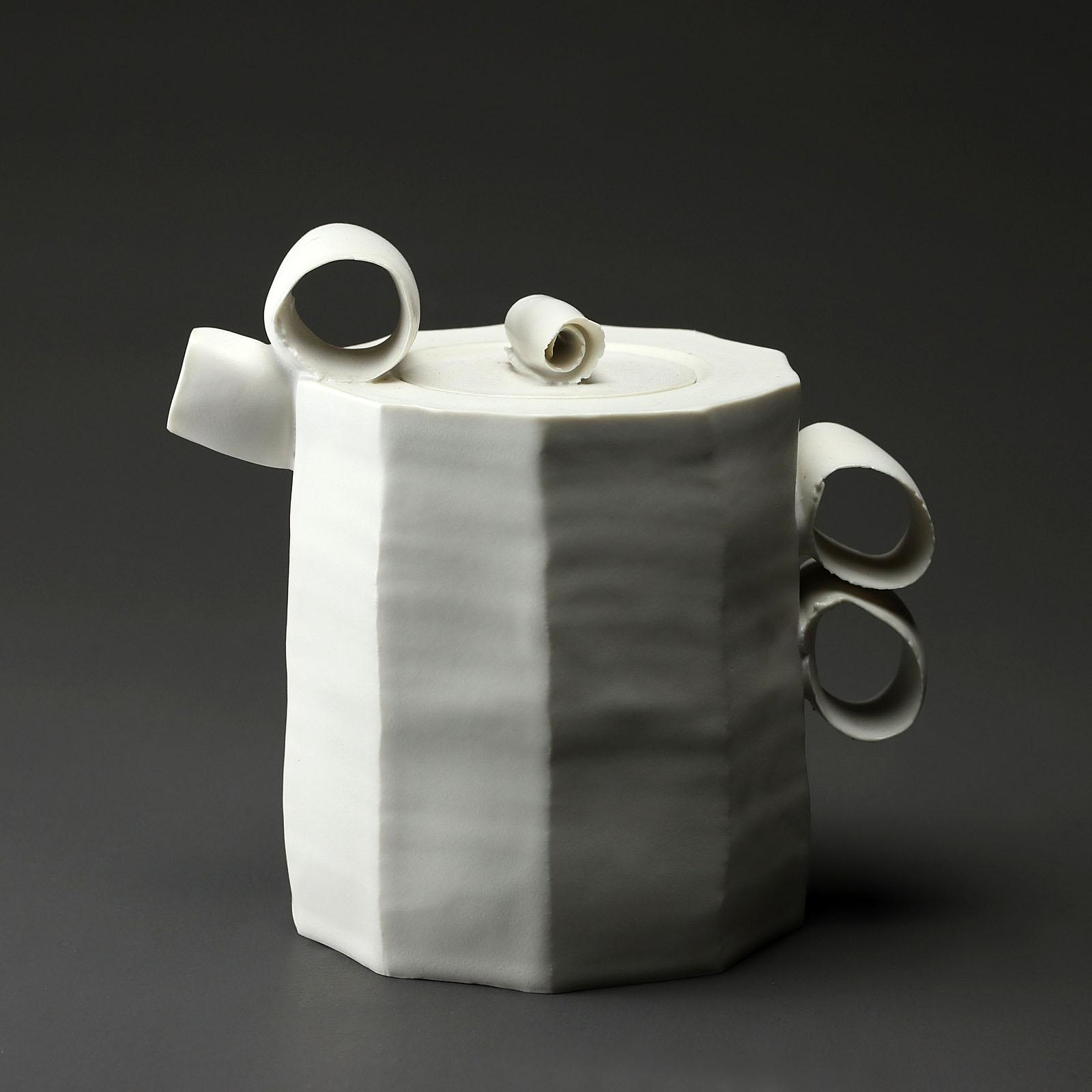 theiere 960 en céramique, porcelaine émaillée blanc