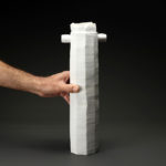 Vase grand modèle en céramique, porcelaine émaillée blanc