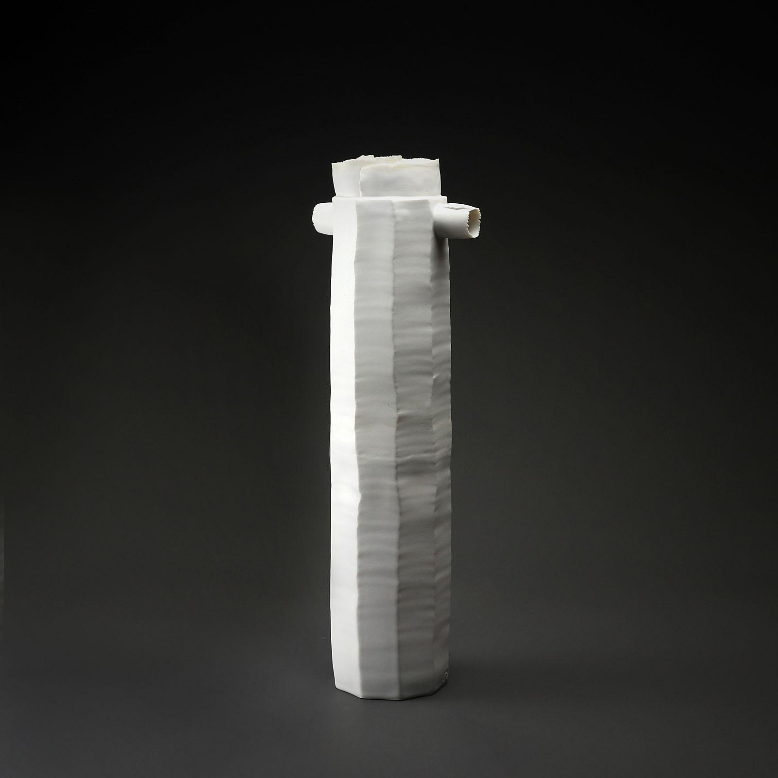vase te gm 956 en céramique, porcelaine émaillée blanc